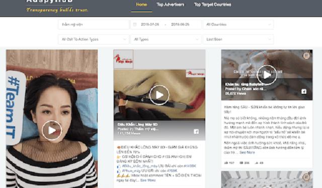 Adspyhub hỗ trợ tìm nhanh bài viết quảng cáo