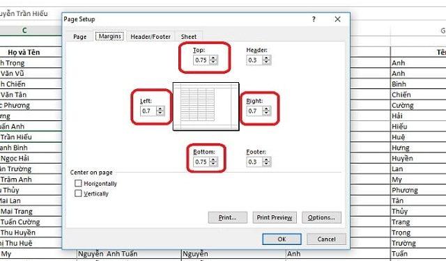 Cách in vừa khít trang giấy A4 với thao tác hiệu chỉnh thông số cơ bản