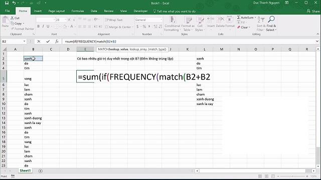 Ưu nhược điểm khi đếm không trùng trong Excel bằng COUNTIF và FREQUENCY