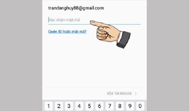 Bước 1: vào tài khoản Samsung đã quên mật khẩu