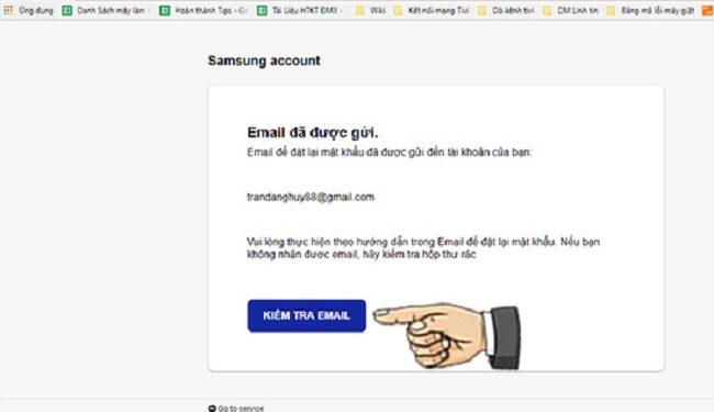 Bước 6: chọn kiểm tra email