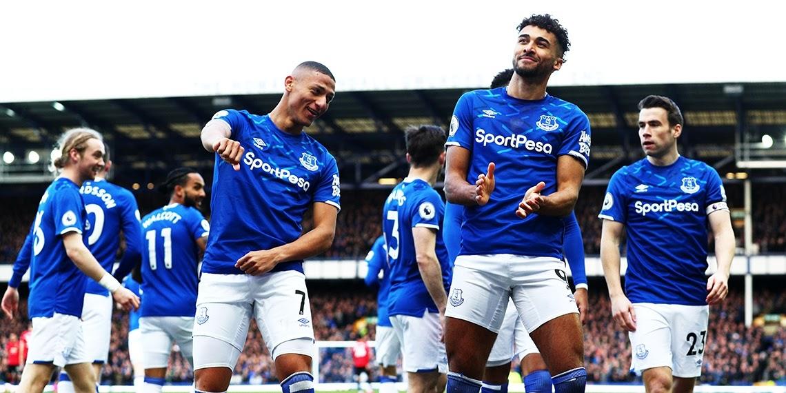 Everton đang dẫn trước về phong độ