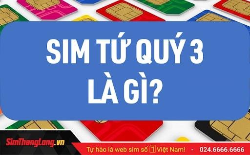 Kho SIM Tứ Quý 3 Sim Thăng Long giá chỉ từ 3999K!