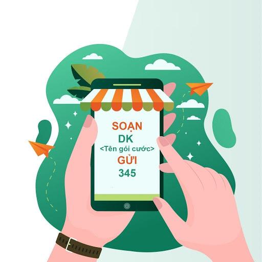 Soạn DK <Tên gói cước> gửi 345 để đăng ký 3G sim Vietnamobile trả trước