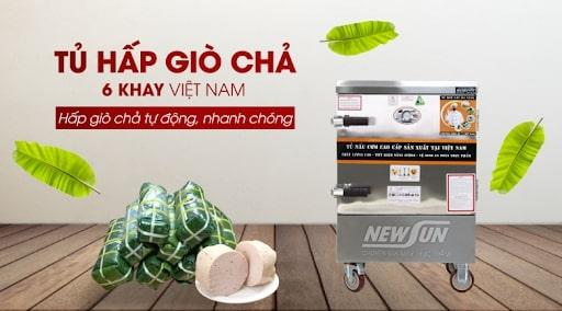 Tủ hấp giò chả 6 khay dùng điện sản xuất tại Việt Nam